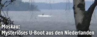 Amateurfoto eines vermutlichen Uboots in einer schwedischen Bucht