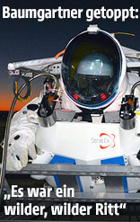 Alan Eustace in Stratosphärenanzug