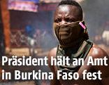 Demonstrant in Burkina Faso
