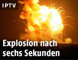 Explosion nach dem Start