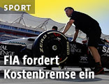 Formel-1-Auto in der Box