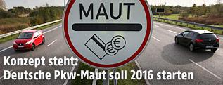 Mautschild auf deutscher Straße