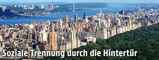 Blick auf die Upper West Side in Manahattan, New York City