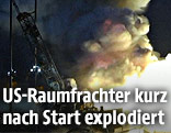 Rauch über der explodierten Rakete