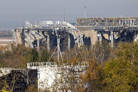 Zerstörter Flughafen von Donezk