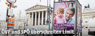 Ein Wahlplakat der ÖVP