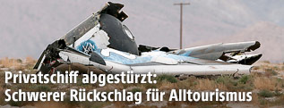 Trümmerteile des Raumschiffs SpaceShipTwo