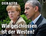 Deutschlands Kanzlerin Angela Merkel und US-Präsident Barack Obama