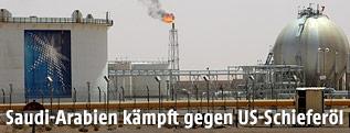 Förderanlage im Khurais Ölfeld in Saudi-Arabien