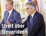 Bundeskanzler Werner Faymann (SPÖ) und Vizekanzler Reinhold Mitterlehner (ÖVP)
