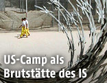 Irakische Gefangene im Camp Bucca
