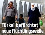 Kurdische Flüchtlinge in einem türkischen Flüchtlingscamp