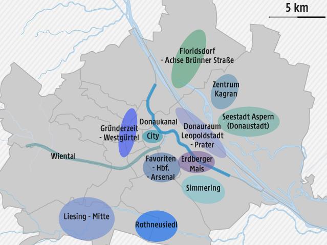 Grafik zu Wohnprojekten in Wien
