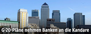 Finanzdistrikt in London