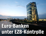 EZB-Gebäude bei Dämmerung