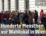 Wartschlangen vor dem rumänischen Kulturinstitut in Wien