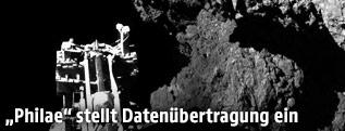 """Bein des Mini-Labors """"Philae"""" auf dem Kometen """"Tschuri"""""""