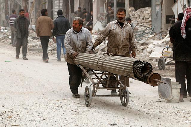 Menschen in Aleppo