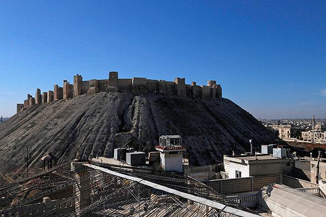 Historische Zitadelle in Aleppo