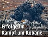 Rauchsäule über Kobane