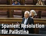 Spaniens Außenminister Garcia-Margallo hält Rede vor Parlament