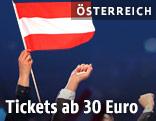 Österreichische Fahne am Song Contest