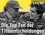 Niki Lauda und Alain Prost