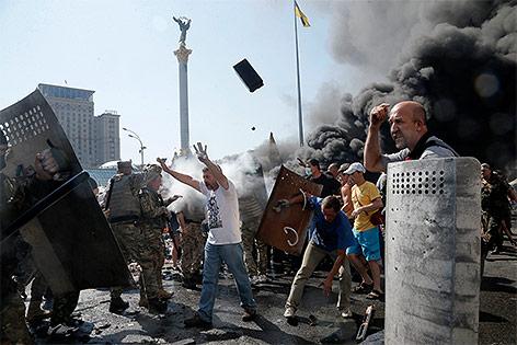 Ausschreitungen am Maidan in Kiew