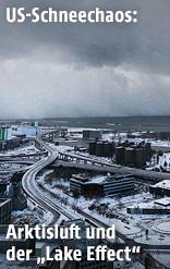 Sturm über Lake Erie und Buffalo