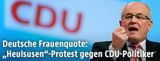 Der Vorsitzende der CDU/CSU-Fraktion, Volker Kauder