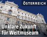 Außenansicht des neuen Weltmuseums Wien