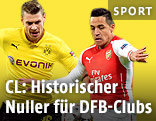 Lukasz Piszczek (Dortmund) gegen Alexis Sanchez (Arsenal)