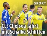 John Terry (Chelsea) jubelt mit seinen Teamkollegen