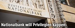 Eingang der Österreichischen Nationalbank