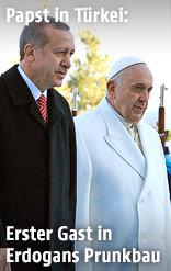 Papst Franziskus und der türkische Premier Erdogan