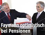 Sozialminister Rudolf Hundstorfer und Bundeskanzler Werner Faymann