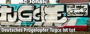 Graffitti im Gedenken an Tugce