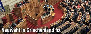 Griechische Parlament stimmt über Präsidenten ab