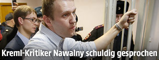 Kreml-Kritiker Alexej Nawalny vor Gericht