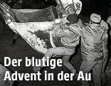 Eine Szene während der Aubesetzung im Dezember 1984