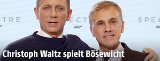 Schauspieler Daniel Craig und Christoph Waltz