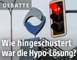 Rote Ampel vor Hypo-Logo