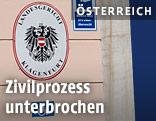 Schild vom Landesgericht Klagenfurt