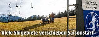 Grüne Piste mit Tellerlift in Gschwandtkopf