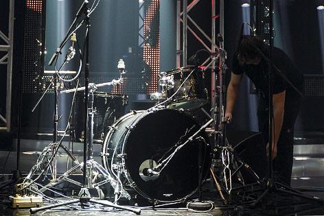 Drums auf der Bühne