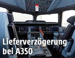 Cockpit eines Airbus A350