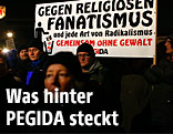 Demonstranten bei einer Pegida-Veranstaltung