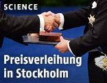 Nobelpreis wird überreicht