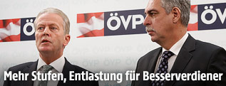 Vizekanzler Mitterlehner und Finanzminister Schelling