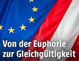 Österreichische und europäische Fahne